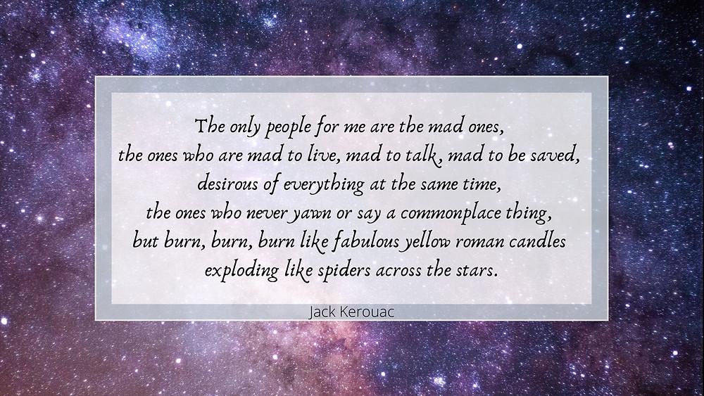 Jack Kerouac inspirational quote