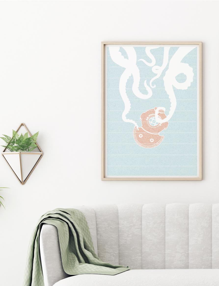 Twenty Thousand Leagues Under the Sea book poster