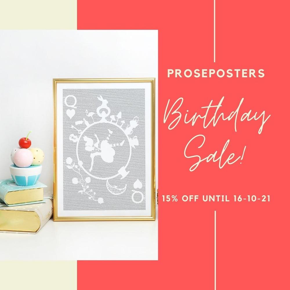Proseposters literary poster sale