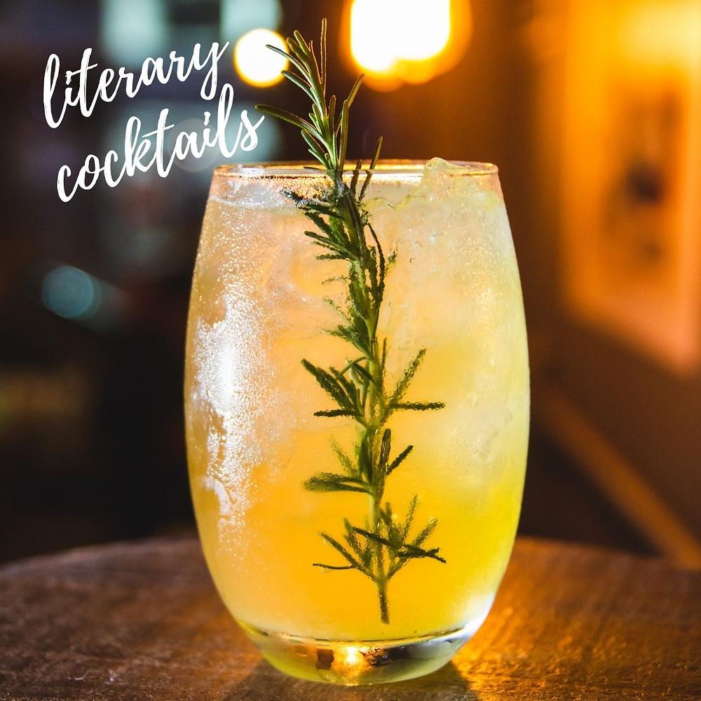literary cocktails, valentine date