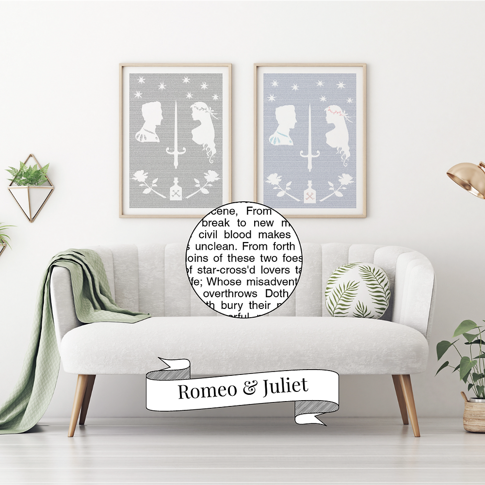 Romeo and Juliet words poster