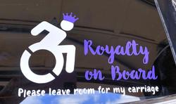 Royalty on Board Wheelchair Car Decal