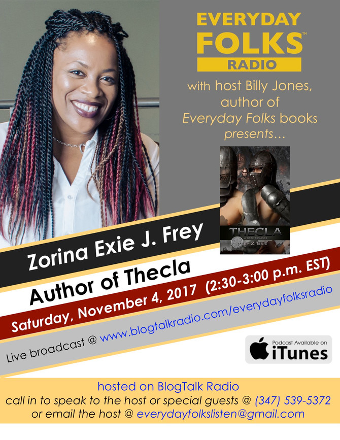 BJ Interviews Zorina Exie J. Frey, Author of Thecla