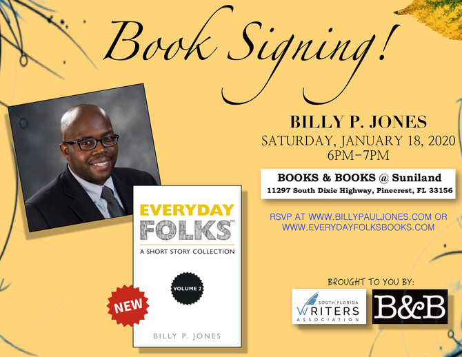 Book Reading & Signing-- 1/18/20 @ 6 p.m.