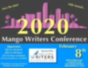 flier, 2020 Mango Writers Conference.jpe