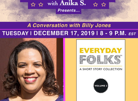 JIP: Interview with author Billy Jones Now Available On The Everyday Folks Radio Line Up!