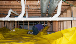 Crawl spaces with 15 mil Stego wrap sealed to insulation blanket (4)