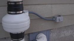 Radon fan exterior application