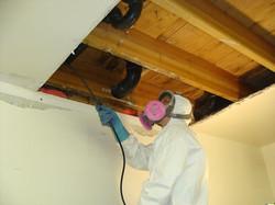 Mold behind ceilings