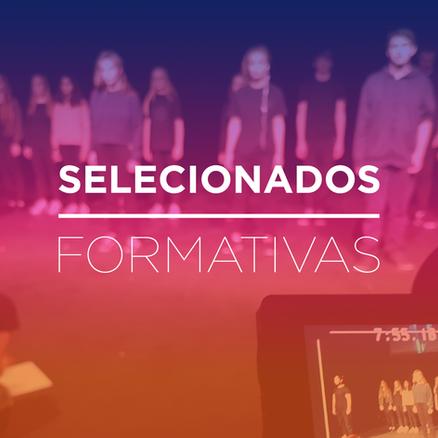 Selecionados: Atividades Formativas 2018
