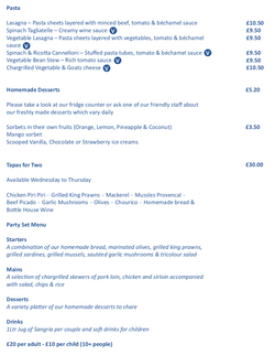 Mains and specials