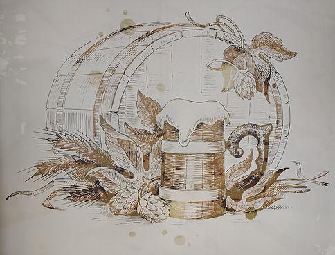 Wandbild Bierkrug