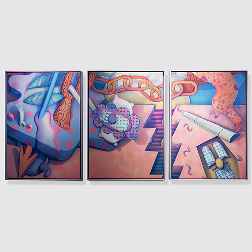 Sickboy - Triptych - Framed