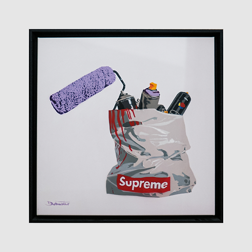 Dotmasters - Supreme Purple - Framed