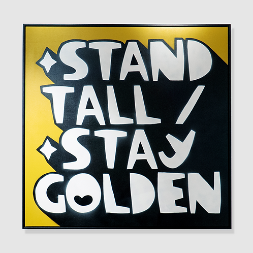 Kid Acne - Stand Tall / Stay Golden - Framed