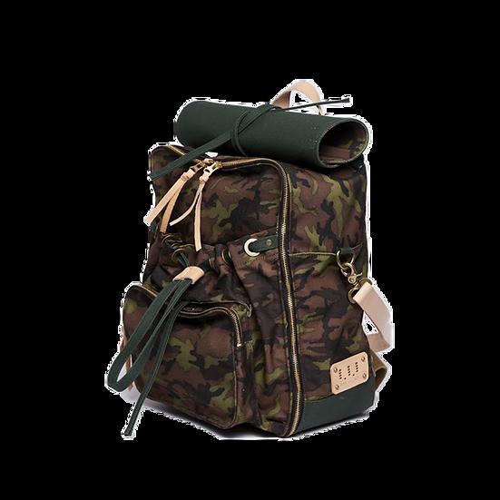 UA0302|上蠟帆布迷彩後背包 Urban Camouflage Backpack