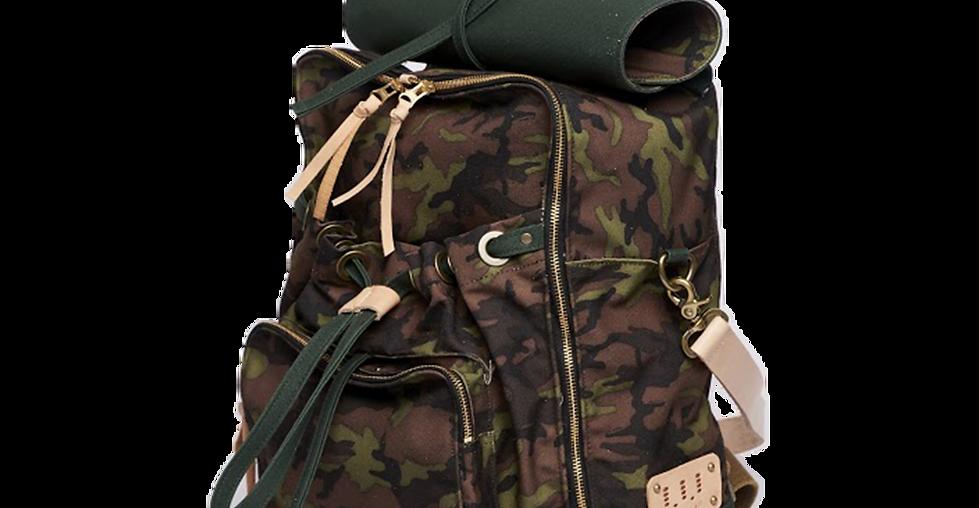 UA0302 上蠟帆布迷彩後背包 Urban Camouflage Backpack