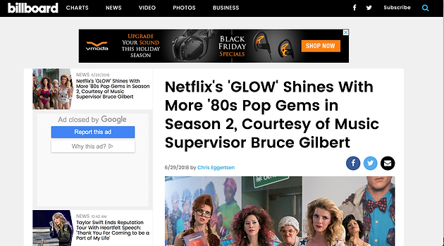 """Early Brian Smith song opens episode of Netflix show """"Glow"""