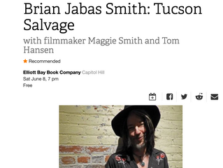 The Stranger in Seattle picks Tucson Salvage Reading/Screening as an event of the week.