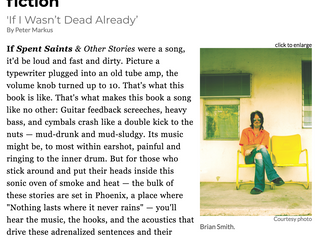 Spent Saints spread in Detroit Metro Times: Brian Smith in conversation with author Peter Markus. Pl