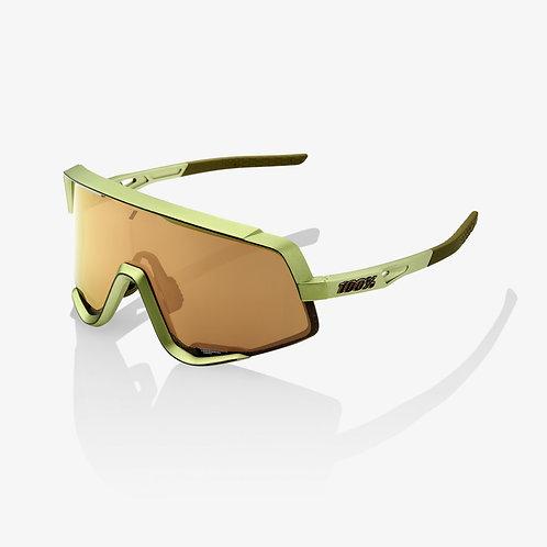 100% GLENDALE® Matte Metallic Viperidae Bronze Multilayer Mirror Lens