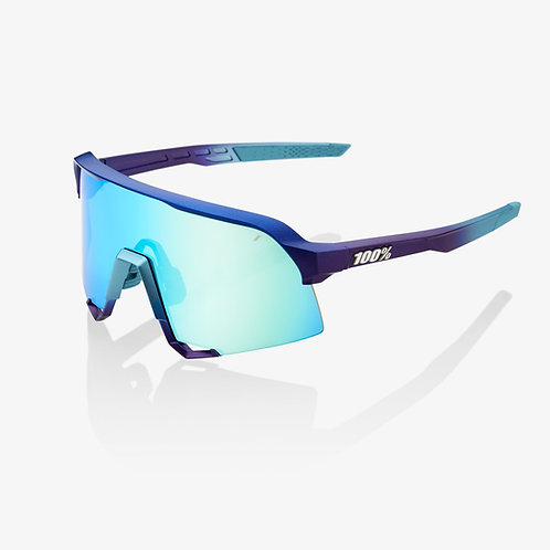 S3® Matte Metallic Into the Fade Blue Topaz Multilayer Mirror Lens + Clear Lens