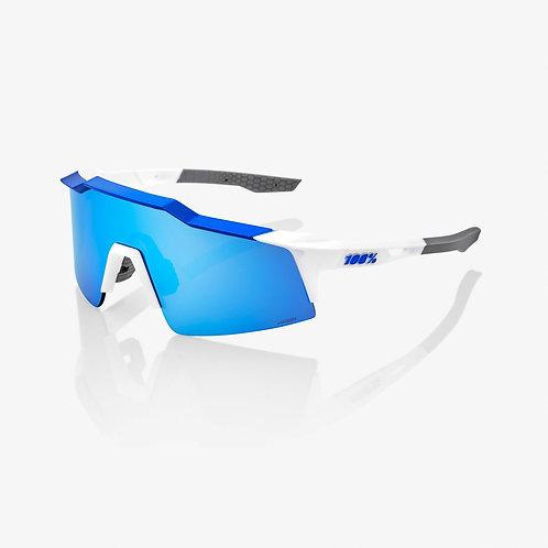 SPEEDCRAFT® SL Matte White/Metallic Blue HiPER® Blue Multilayer Mirror Lens + Cl