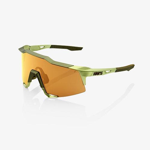 SPEEDCRAFT® Matte Metallic Viperidae Bronze Multilayer Mirror Lens + Clear Lens