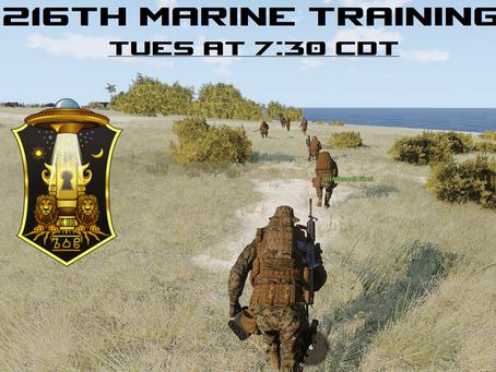 216th Marine Training Night