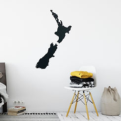 Map of New Zealand Wall Art
