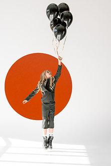 110cm Orange Contemporary Circle Pinboard