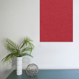 80 x 60cm Red Contemporary Rectangle Pinboard