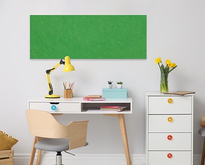 400 x 1150mm Green Contemporary Rectangle Pinboard