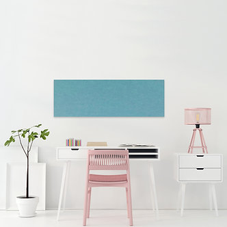 400 x 1150mm Aqua Contemporary Rectangle Pinboard