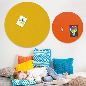 80cm Mustard Contemporary Circle Pinboard