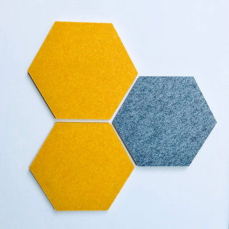Mustard Hexagon Pinboard
