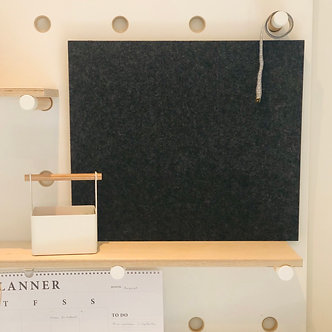 500 x 430mm Charcoal Contemporary Rectangle Pinboard