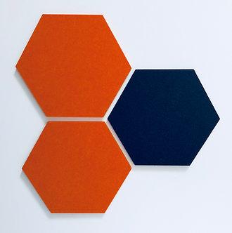 Orange and Navy Hexagon Pinboards