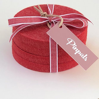Red Coasters (set of 4)