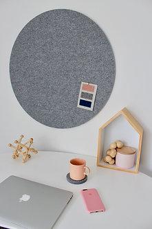 80cm Grey Contemporary Circle Pinboard