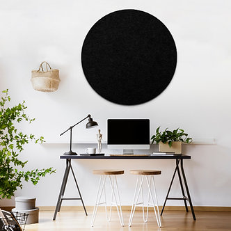 80cm Black Contemporary Circle Pinboard