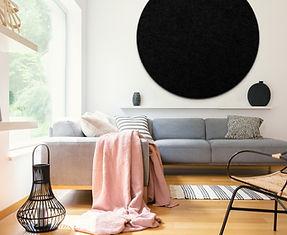 Pinpals Black Circle Pinboard (1000mm)