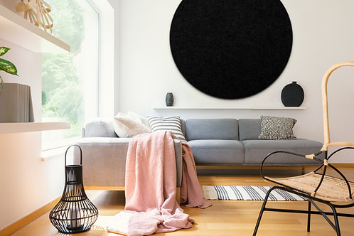 110cm Black Contemporary Circle Pinboard