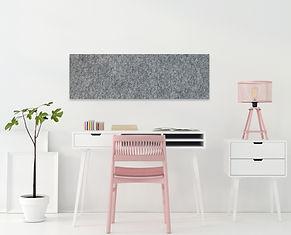 Pinpals Grey Felt Rectangle Pinboard 1150 x 500mm
