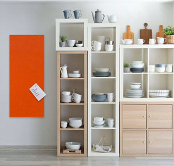 400 x 1150 mm Orange Contemporary Rectangle Pinboard