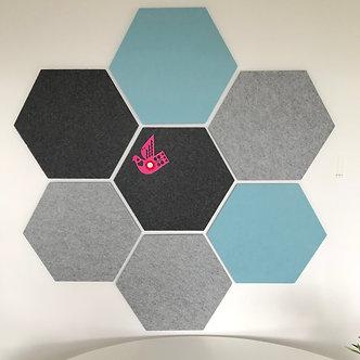 Aqua Hexagon Pinboard
