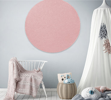 110cm Pink Contemporary Circle Pinboard
