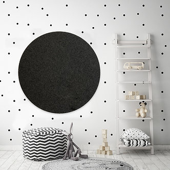 110cm Charcoal Contemporary Circle Pinboard