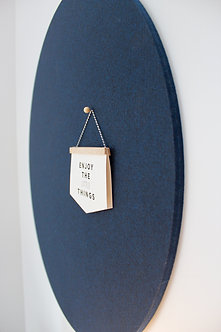 110cm Navy Contemporary Circle Pinboard