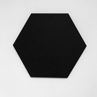 Black Hexagon Pinboard